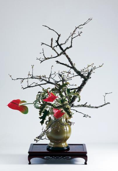 Bunjin, by Associate Professor Hirokazu Yokohigashi, of the Ohara School of Ikebana